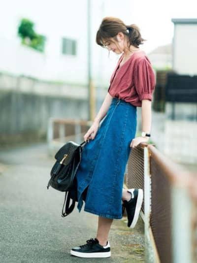 Chân váy midi jean dành cho những cô nàng chân dài - Ảnh 5