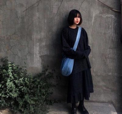Học hỏi cách mix nguyên cây đen của cô nàng Mai Kỳ Hân cực xinh và cá tính
