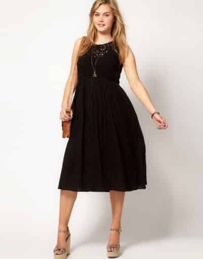 Thon gọn hơn với những chiếc váy xòe tối màu