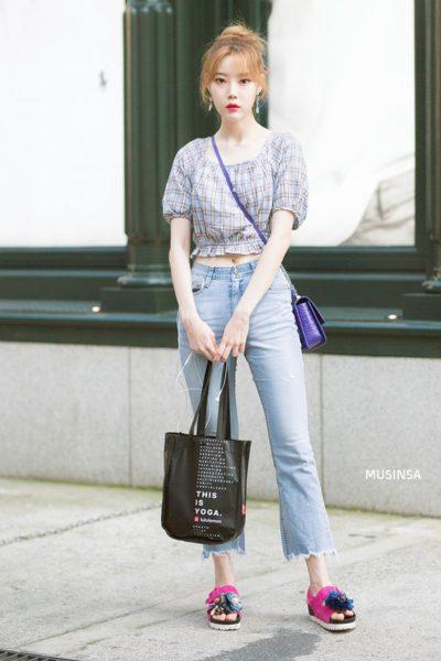 Áo blouse họa tiết