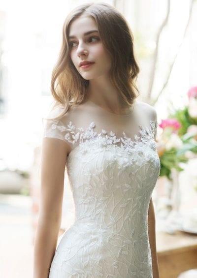 Kiểu tóc cô dâu ngắn ngang vai đơn giản nhưng hợp xu hướng hiện đại