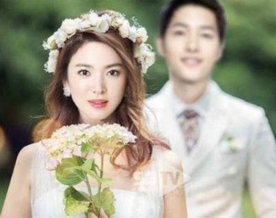 Tóc cô dâu Hàn Quốc búi thấp đơn giản với khăn đội đầu