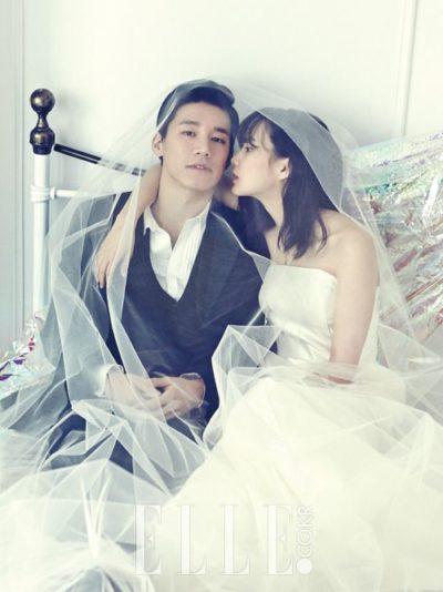 Tóc cô dâu Hàn Quốc uốn nhẹ cho cô dâu tóc ngắn ngang vai