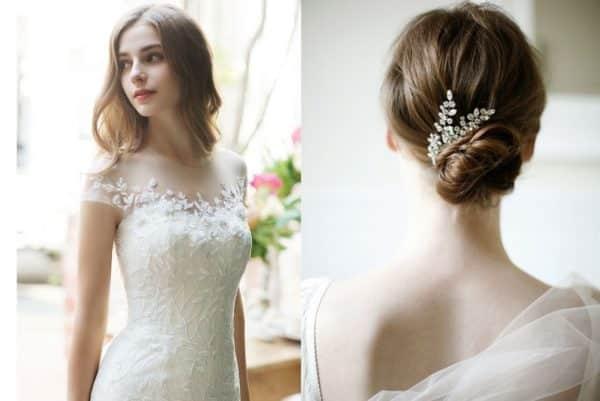 Kiểu tóc cô dâu ngang vai cực xinh cho ngày cưới
