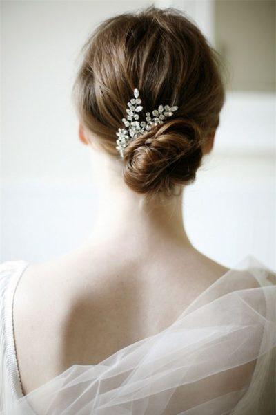 Kiểu tóc búi thấp trang nhã đẹp ngất ngây