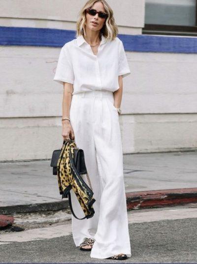 Quần trắng mang tới vẻ sang trọng nhưng không dễ mặc chút nào
