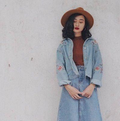 Phong cách Vintage: Jacket jeans