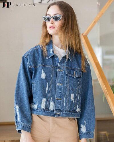 Bụi bặm với chiếc áo khoác jeans