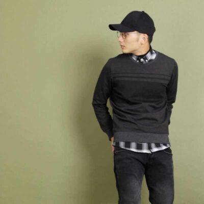 Sweatshirt + Quần đen đơn giản