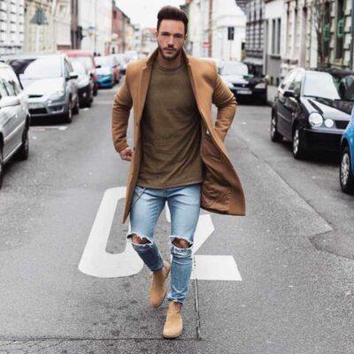 Áo vest phối với quần jean