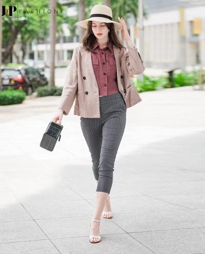 Chiếc quần baggy kaki nữ item cho quý cô sành điệu