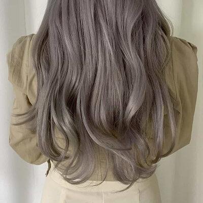 Màu tóc 2021 xám khói sang chảnh