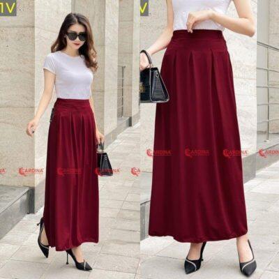Váy chống nắng Cardina màu đỏ rất nổi bật
